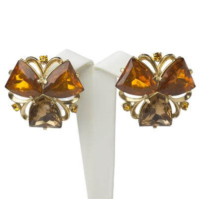 Clover earrings by Elsa Schiaparelli