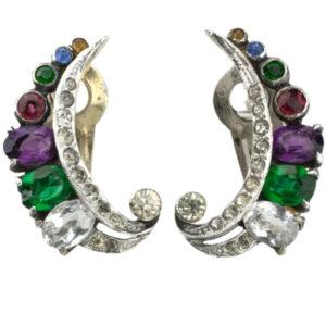 Acrostic earrings by De Rosa