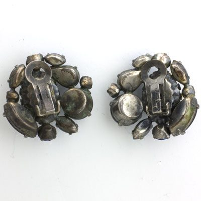View of earring backs
