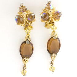 1950s pendant earrings by Hattie Carnegie