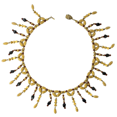 Hattie Carnegie beaded fringe necklace