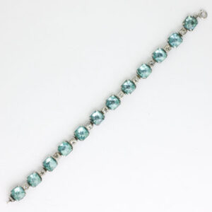 Front of Art Deco aquamarine bracelet