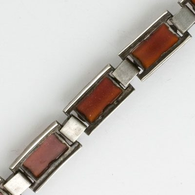 Close-up of back of bracelet links