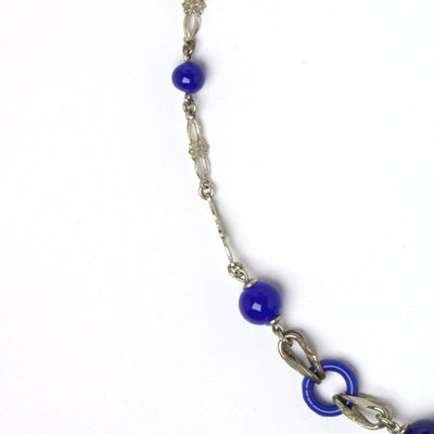 Close-up view of necklace side