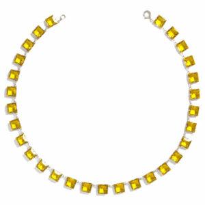 Citrine chicklet necklace