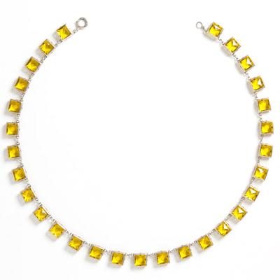 Back of citrine & sterling Art Deco necklace