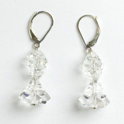 Matching rock crystal earrings