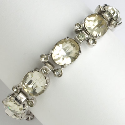 Eisenberg bracelet with diamanté & sterling