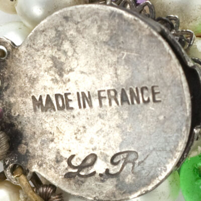 Louis Rousselet signature on necklace clasp