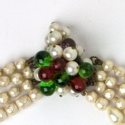Clasp of Louis Rousselet 4-strand necklace