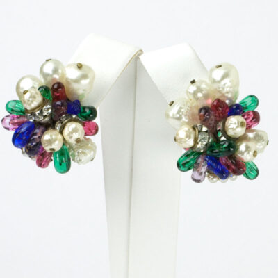 1950s earrings by Louis Rousselet
