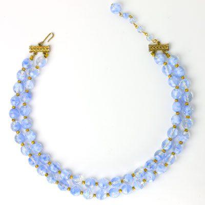 1950s Hattie Carnegie 2-strand choker necklace
