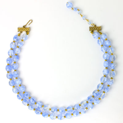 1950s Hattie Carnegie 2-strand choker necklace
