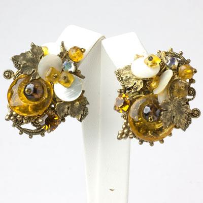 Jeweled ear clips