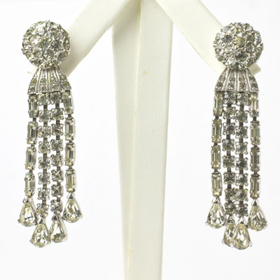Pennino earrings in diamante