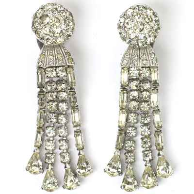1950s Pennino chandelier earrings