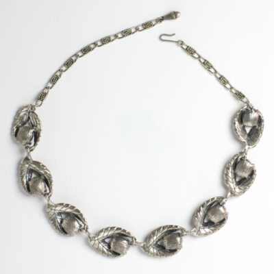 View of Schiaparelli necklace back