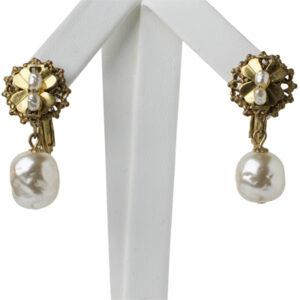 Vintage pearl earrings by Miriam Haskell