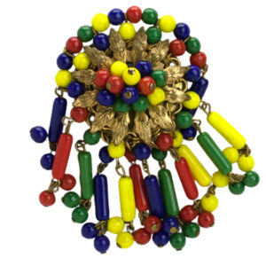 Colored bead brooch by Frank Hess