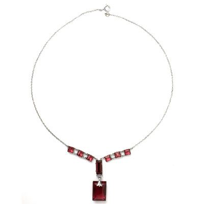Ruby Art Deco pendant