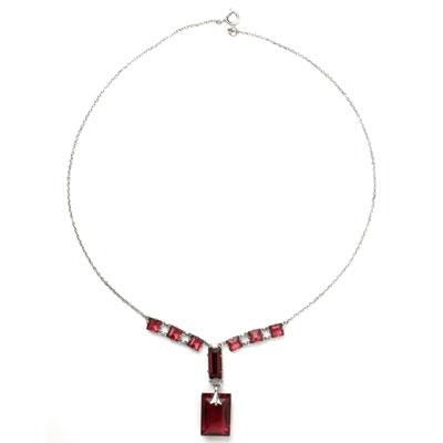 Ruby Art Deco pendant