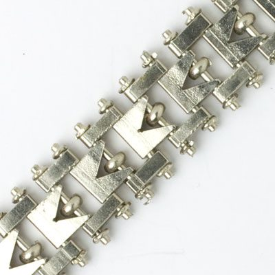 Close-up view of bracelet back