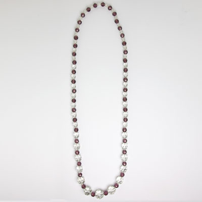 Full view of beaded necklace