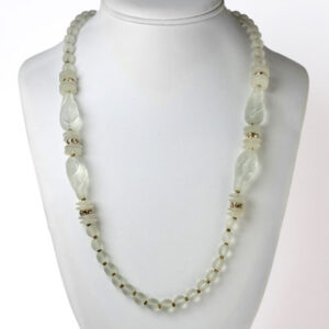 Frosted bead necklace by Miriam Haskell