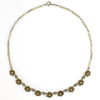 Front of 1930s Theodor Fahrner necklace
