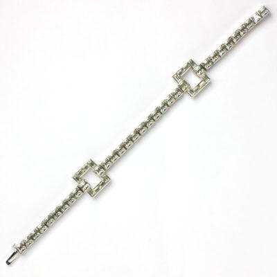 Front of 1940s line bracelet