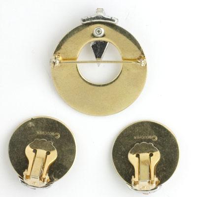Backs of brooch & earrings