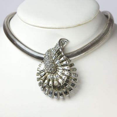 Walter Lampl sterling choker with Marcel Boucher clip