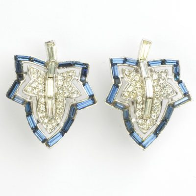 Another view of Trifari earrings