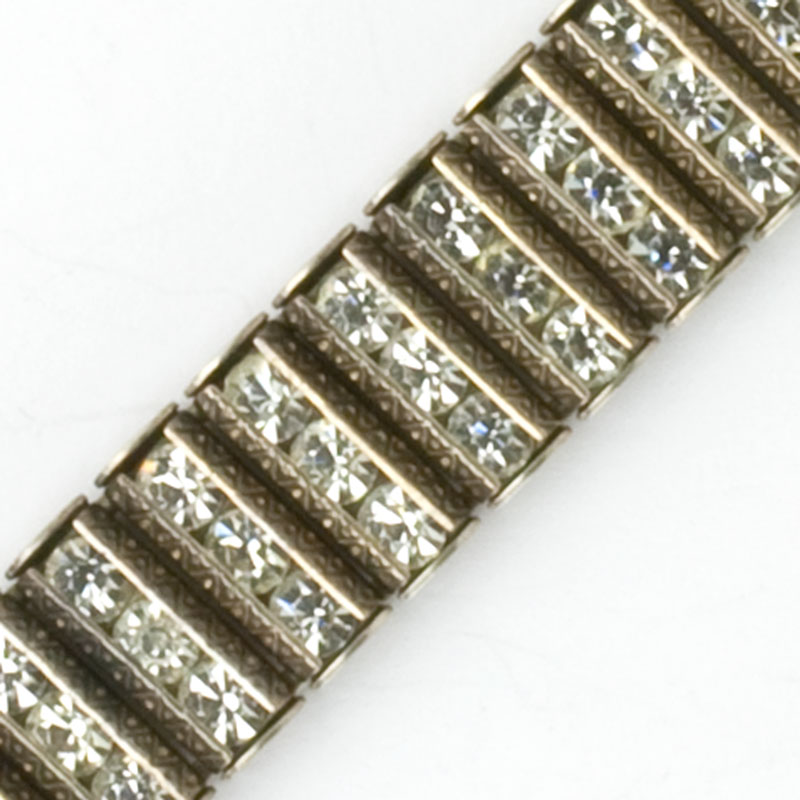 Close-up view of bracelet