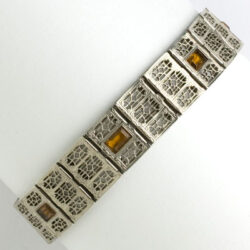 Vintage Art Deco bracelet by Simmons in sterling