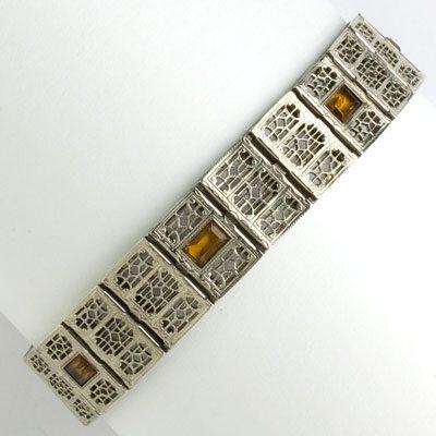 Vintage Art Deco bracelet by Simmons in sterling