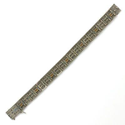 Back of sterling filigree bracelet