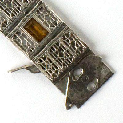 Unusual clasp on this Art Deco Bracelet
