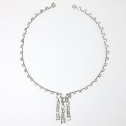 Front of crystal Art Deco necklace