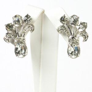 Vintage screw back earrings in diamanté by Eisenberg