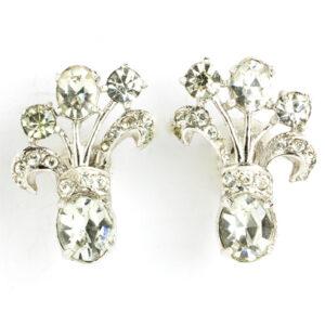 Diamante & sterling earrings by Eisenberg