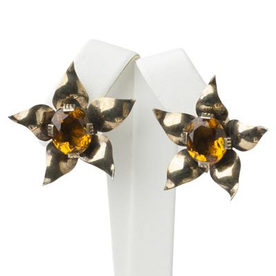 Vintage topaz earrings in vermeil sterling
