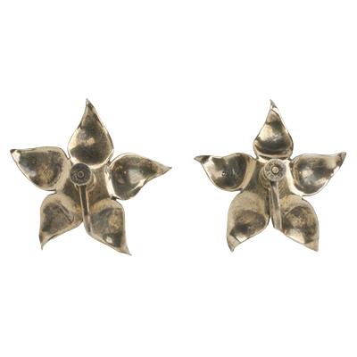 Back of vintage topaz earrings