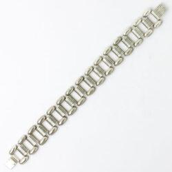 Front of Ikora silver-plated bracelet