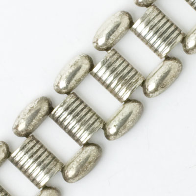 Close-up view of bracelet links