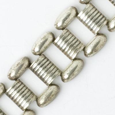 Close-up view of bracelet links