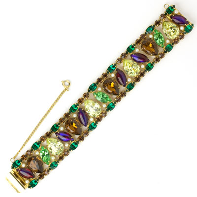 Front of 1950s bracelet by Hattie Carnegie