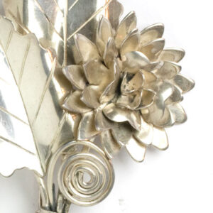 Close-up view of pin front