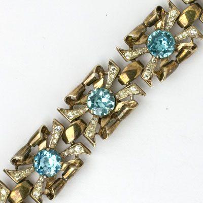 Close-up view of Adolph Katz-designed Coro bracelet