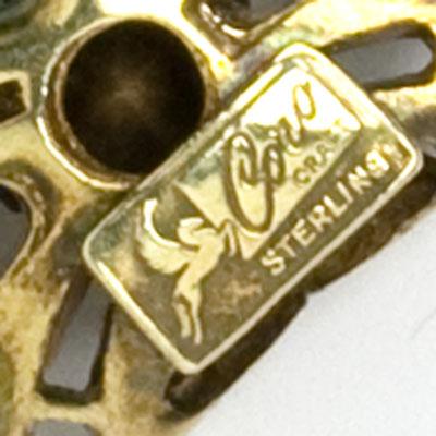 Coro Craft maker's mark on bracelet